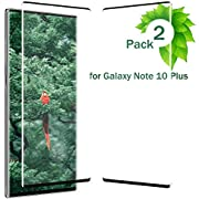 Note 10 Plus Screen Protector Tempered Glass for Galaxy Note 10 Plus [3D Edge Covered] [9H Hardness] [Case Friendly] [Scratch Resistant] [2-Pack] Black a1