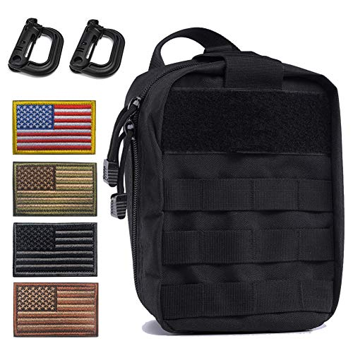 Tactical Medical Molle Pull Away Pouch, Tactical MOLLE Utility Pouch (Black)