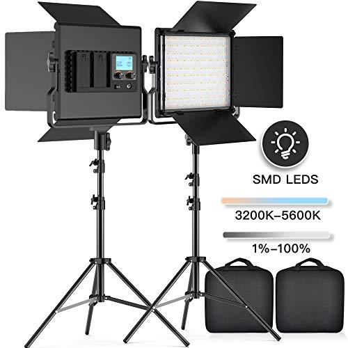 Orange et Blanc Neewer  filtre de couleur lumi/ère 36 cm//35,6 cm 50 W 5500 K de 36 W LED SMD 5500 K Dimmable annulaire 400 W /équivalent