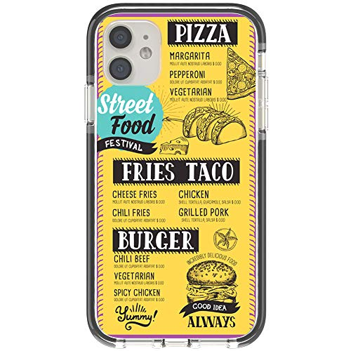 ROSE LAKE Phone Case Compatible with iPhone 11, Thin Slim Shockproof Protective Bumper Cover with Tasty Food Design Pattern for Women Girls Men Boys 6.1 Inch (Food Collection)