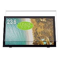 3枚 VacFun フィルム , グリーンハウス GREEN HOUSE GH-LTP24ABK 23.6インチ 向けの 保護フィルム 液晶保護 フィルム 保護フィルム(非 ガラスフィルム 強化ガラス ガラス )
