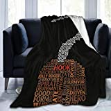 WUKON Super-Soft Captain Hook Once Upon A Time Typography Throw Blanket Suitable for Sofa Micro Flannel Fleece Blankets for Adults and Children Bed Blankets 60' x50