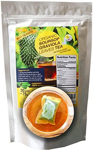 Organic Soursop Graviola Leaves Tea 30 Bags Extra Tea Bags product image