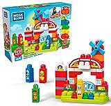 Mega Bloks Granja Musical, juguete de construcción para bebé +1 año (Mattel GCT50) ,...