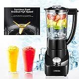 Mixer Glas Standmixer 28.000 U/min mit 700W Mixer Smoothie Maker mit 2 Geschwindigkeiten
