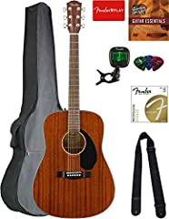"""Dreadnought body style Solid mahogany top with scalloped """"X""""-bracing Mahogany back and sides Easy-to-play neck with rolled fingerboard edges Ideal for players looking for a high-quality affordable dreadnought with great tone and excellent playability"""