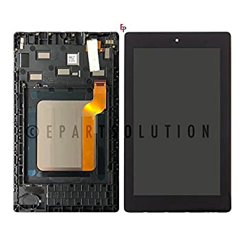 ePartSolution_LCD Display Touch Screen Digitizer Glass + Frame Assembly for Amazon Kindle Fire 7 7th 2017 SR043KL Replacement Part