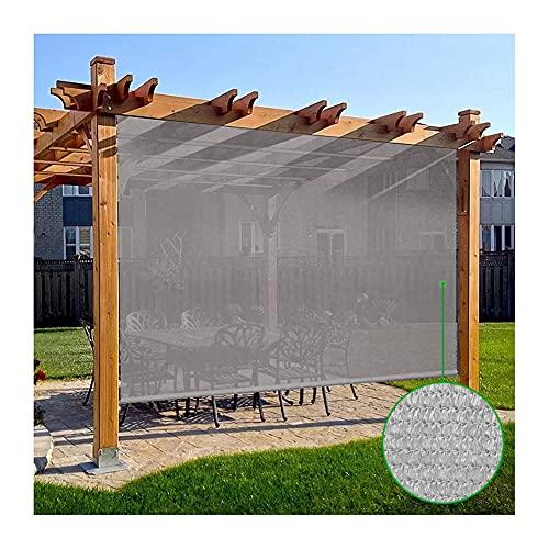 YAYADU-Storage Basket Persiana Enrollable, Cortina Opaca, Pantalla De Privacidad, Pantalla De Privacidad, Riel Colgante De Aleación De Aluminio Anti-UV Transpirable para Pérgola De Patio Y Terraza