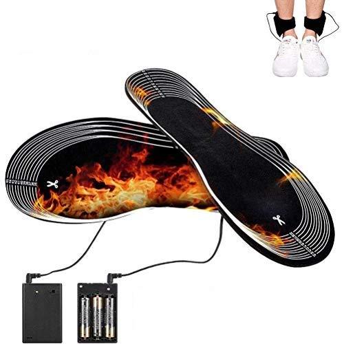 Diantai 1 par de Plantillas térmicas Termosoles eléctricos USB Calentador de pies Lavable cálido Plantillas cortables para Mujeres/Hombres (36-46 Metros)