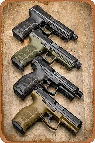 882 BOPNMJ None Brand Italian Beretta 92F pistolas 20 x 30 cm Vintage Metal placa de pared cartel para Cafe Bar Pub Bar Cocina o Tienda