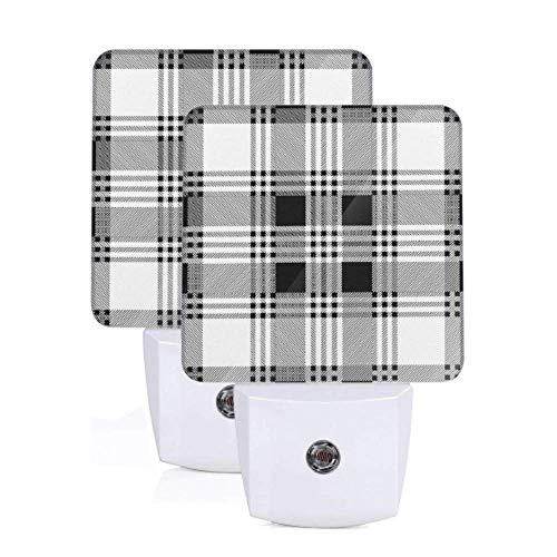 2 paket automatische licht schwarz weiß plaid textur auto dämmerung sensor lampe das nachtlicht für flur schlafzimmer treppen korridor wohnkultur