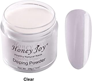 28g/Box Dipping Powder French Manicure Pink and White Clear Transparent Starter Kit Dip Powder Nails No Cure,0.98oz per box, Clear