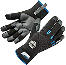 Ergodyne ProFlex 817WP Waterproof Work Gloves, Thermal Insulated, Touchscreen, Reinforced Palms, Black, Large