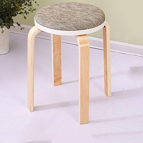 KFXL yizi Tabouret en bois massif Chaise haute banc 13 couleurs en option Le nombre de 48cm en option (Couleur : J, taille : 4#)