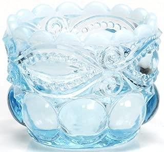 Salt Cellar/Dip - Eyewinker - Blue Opalescent - Mosser USA