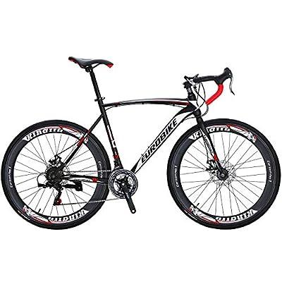 Road Bike 700C Wheels 21 Speed Disc Brake Bicycle 54cm/Medium Frame Size (Aluminium Wheel 60)