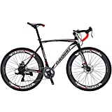 Eurobike Road Bike 700C Wheels 21 Speed Disc Brake Bicycle 54cm/Medium Frame Size (Aluminium Rims 02)