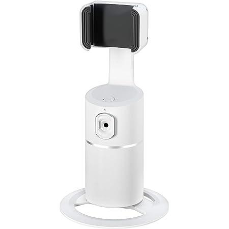 Supporto per telefono cellulare con funzione di tracciamento del viso, con rotazione a 360°, per iPhone e telefoni Android, Vlog riprese live streaming video chat tempo volto