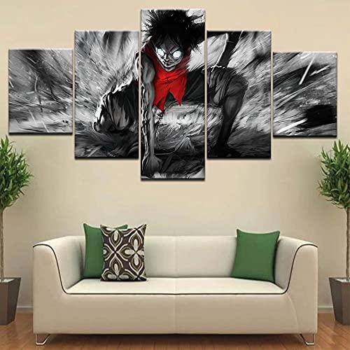 GUANGWEI HD Poste Impresión Modular Alta Definición con Marco Elástico Moderno De Tela No Tejida Papel De Anime Muebles Modernos Arte Decoración Pared Pintura 5 Pinturas Combinadas