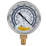 Niady Indicador de presión exacto medidor de aire Instrumento for la bomba de vacío 0? 14psi G1 / 4 pulgadas Conector