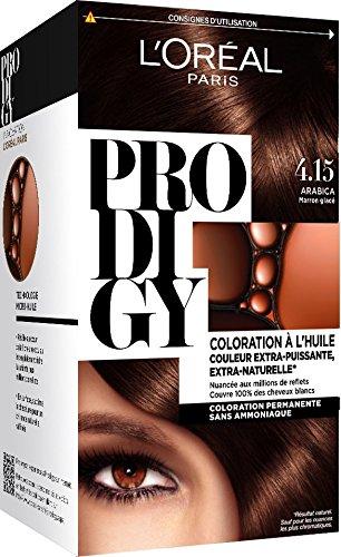 L'Oréal Paris Prodigy Coloration Permanente à l'Huile Sans Ammoniaque 4,15 Marron Glacé