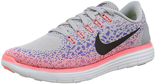 Nike Damen Free Run Distance Laufschuhe, Grau (Wolf Grey/Dark Grey Pink Blast PlrzdWolf Grey/Dark Grey Pink Blast Plrzd), 36 EU