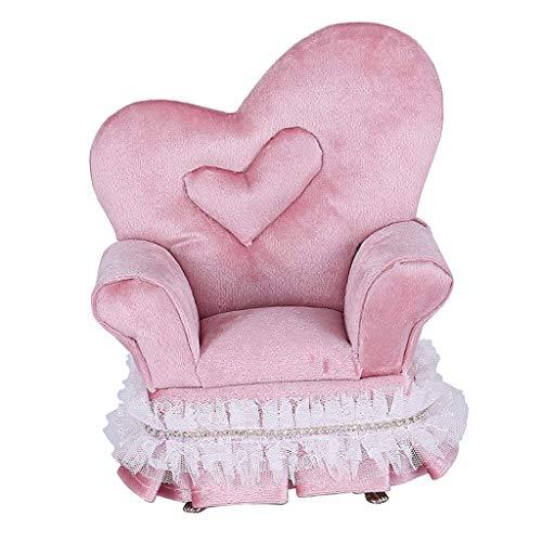sharprepublic Schmuckkästchen Schmuckkasten Schmuckschatulle Schmuckbox, Mini Samt Stuhl, tolles Geschenk für Kinder Mädchen
