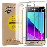 pinlu [4 Pack Protector de Pantalla de Cristal para Samsung Galaxy J1 Mini Prime Protector Cristal Vidrio Templado [9H/2.5D/0.26mm, 99% TransPrincipale]