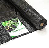 Garden Tailor 3ft x25ft Landscape Fabric Heavy Duty, Woven Garden Weed Barrier Fabric, PE Ground Cover Weed Control Membrane for Flower Beds, Eco-Friendly and Durable (3'x25')