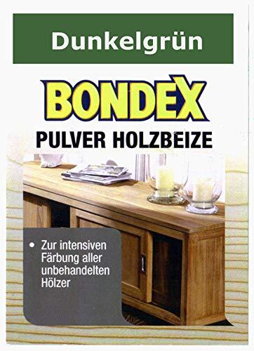 Bondex Holzbeize Pulverbeize Beutelbeize Beize auf Wasserbasis für Möbel 5er Pack - dunkelgrün