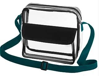 Clear Stadium Bag, Team colors! Crossbody NFL/PGA/COLLEGE/NHL/MLB & Concert Approved Purse w/Adjustable Strap