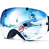 ZIONOR XA Ski Snowboard Snow Goggles for Men Women...