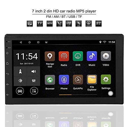 Doppel-Din Android 8.1 Auto Navigation Stereo Doppel Din 7 Zoll Bluetooth Autoradio Audio Radio, WIFI Doppel 2 Din Autoradio Stereo Multimedia Bluetooth Player GPS 16G für Apple Android Mobiltelefone