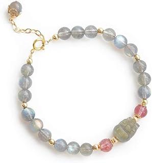 LWQQY Natural Grey Moonstone Stone Bracelet Female Niche Design Frosty Wind Transfer Crystal Simple Girlfriend Bracelet