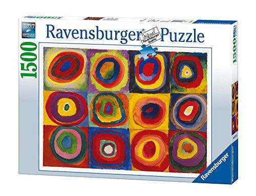 Ravensburger-16377 9 Puzzle 1500 Piezas Kandinsky: Estudio sobre Color, Multicolor, 12+ (16377 9)