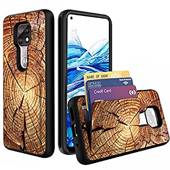 Compatible with Moto G Power 2021 Case,Wallet Case Hidden Card Slot Holder Shockproof TPU and PC Dual Layer Protective Case Cover for Motorola Moto G Power 2021,Wood Grain