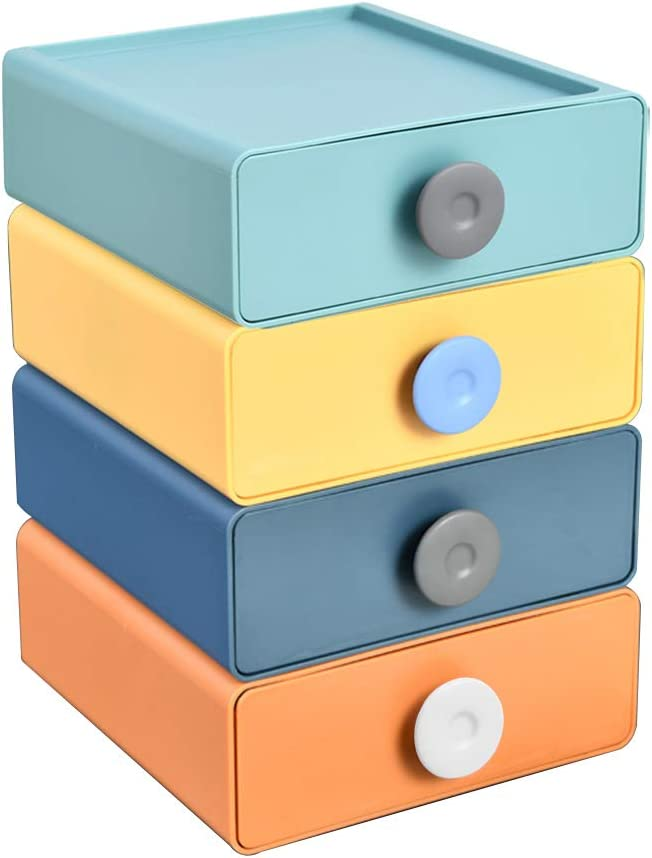 Desktop Plastic Excellent Ranking TOP10 Storage Drawers Stackabl Organizer Set