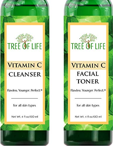 Vitamine C Nettoyant Visage et Tonique Combo Lot de 2 - Nettoyer et tonifier votre peau pour des résultats apaisants