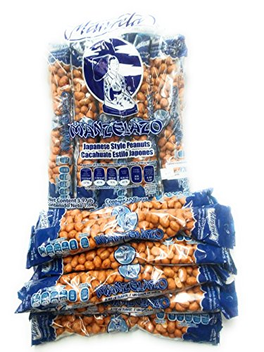 Cacahuate Estilo Japones Manzela Peanuts Japanese Style 6.35 oz each 10 Pieces