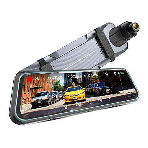 iMirror 9.66' 2.5K Mirror Dash Cam for Cars with Full IPS Touch Screen, Waterproof Backup Camera, Rear View Mirror Camera, Enhanced Night Vision with Sony Starvis Sensor, Parking Assistance