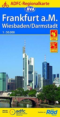 ADFC-Regionalkarte Frankfurt a. M. Wiesbaden/Darmstadt, 1:50.000, reiß- und wetterfest, GPS-Tracks Download (ADFC-Regionalkarte 1:50000)
