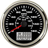 ELING MPH GPS Speedometer Velometer 160MPH 220KM/H Trip Counter Odometer for Car Racing Motorcycle 3 3/8 12V 24V