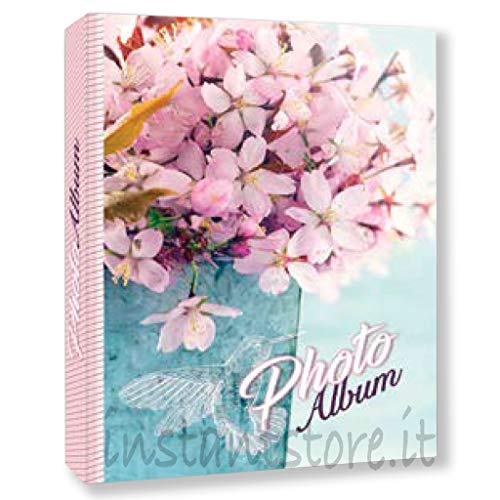 ZEP Album Fotografico 300 Foto 13x19 13x18 Raccoglitore a Tasche Portafoto a Fantasie Fiori Violette con Etichette memo