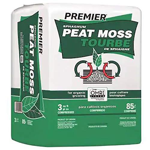 PREMIER HORTICULTURE Peat Moss Organic Sphagnum, Large, 3.0-Cubic Foot