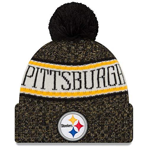 New Era ONF18 Sport Knit Bommelmütze Pittsburgh Steelers Schwarz, Size:ONE Size