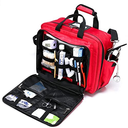 Tragbare Medizinische Schultertasche, Erste-Hilfe-Tasche Professionelle Arzttasche Große Kapazität Mit Interior Division Board Und Rutschfestem Boden, Home Nurse Case Krankenschweste