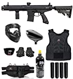 Maddog Tippmann Stormer Elite Dual Fed Protective CO2 Paintball Gun Marker Starter Package - Black