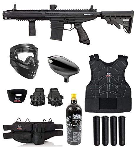 Maddog Tippmann Stormer Elite Dual Fed Protective CO2 Paintball Gun Marker Starter Package - Black