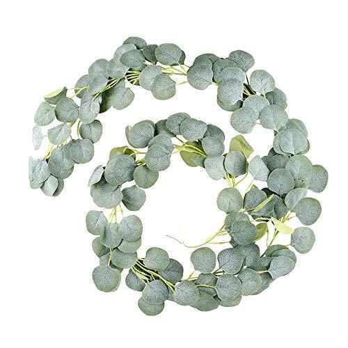 Guirnalda de eucalipto artificial, planta artificial, guirnalda de eucalipto artificial, accesorio para decoración de bodas