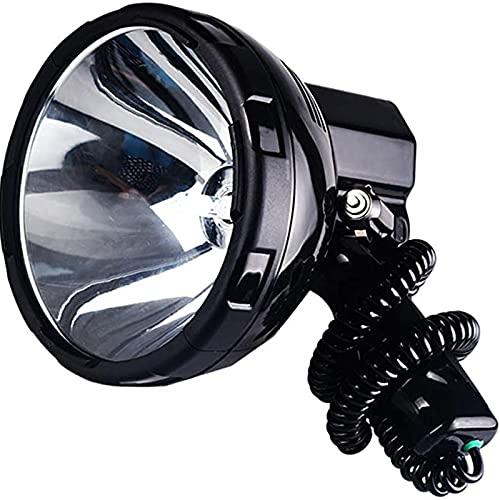ZGLXZ 12V 55W 6500K Spotlight, Súper Brillante Linterna LED Flowlight De Mano 3000 Metros Rango, Luz De Búsqueda De Linterna Grande, Fácil De Llevar